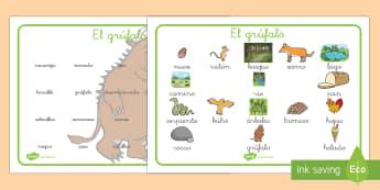 Tapiz de vocabulario - El Grúfalo