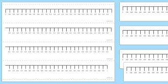 Hundredths Number Line - hundredths, decimals, decimal numbers, number line, compare, order,