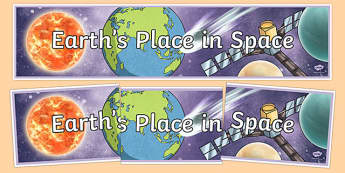 Earth's Place In Space Display Banner - australia, Australian Curriculum, Earth's Place in Space, science, year 5, banner, wall display