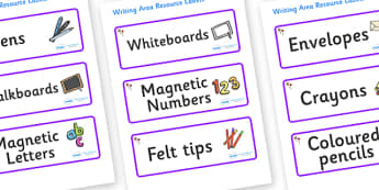 Lollipops Themed Editable Writing Area Resource Labels - Themed writing resource labels, literacy area labels, writing area resources, Label template, Resource Label, Name Labels, Editable Labels, Drawer Labels, KS1 Labels, Foundation Labels, Foundat