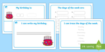 Morning Activities Additional Activity Sheet - adapted morning activities, adapted activities, independent work, worksheet, days of the week. month