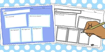 Book Review Writing Frame Blank - book, review, writing, frame