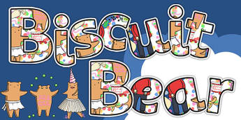 Display Lettering to Support Teaching on Biscuit Bear - display lettering, alphabet