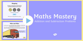 Year 6 Calculation Addition and Subtraction Problems PowerPoint - Year 6, maths, mathematics, numeracy, problem solving, addition, add, sum, subtraction, takeaway, mi