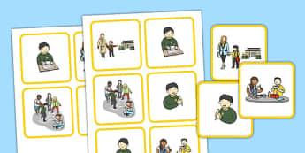 Sequenza Scolastica Carte - Schede, carte, con, seuqenza, attivita', scolastiche, italiano, italian, programma, orario