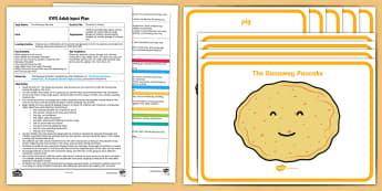 EYFS The Runaway Pancake Movement Activity Adult Input Plan and Resource Pack - EYFS, Early Years planning, adult led, The Runaway Pancake, traditional tales, pancake day, Shrove T