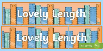Length Measures Display Banner - measures, length, display banner, display, notice board,Irish