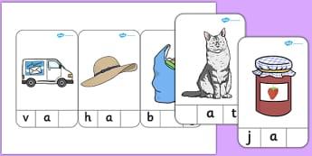 CVC Words 'A' Peg Activity - cvc, words, a, peg, activity, cvc words