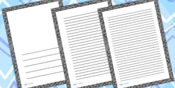 Elephant Skin Page Borders - writing templates, writing frames
