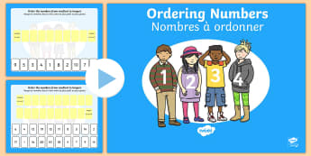 Ordering Numbers 0 to 10 and 0 to 20 PowerPoint English/French - Ordering Numbers 0 to 10 and 0 to 20 PowerPoint - order, number, numbes, nubers, seriation, pp, ppt,