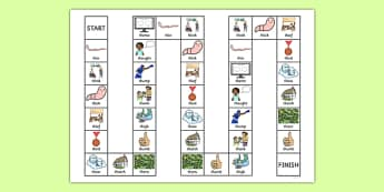 Word Initial Voiceless th Board Game - speech sounds, phonology, phonological delay, phonological disorder, articulation, dyspraxia