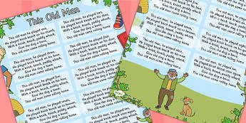 This Old Man Nursery Rhyme Poster - Posters, Displays, Display
