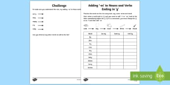 Year 2 Spelling Practice ' y' and ' ies' Homework Activity Sheet  - ks1, English, year 2, practice, home learning, home work, homework, Worksheet, practise, SPaG, spell
