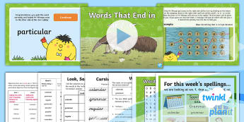 PlanIt Spelling Year 4 Term 3A W6: Words Ending in ar and er Spelling Pack - Spellings, Year 4, Term 3A, W6, endings, ar, er, unstressed sound, schwa, digraph