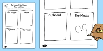 Beatrix Potter - The Story of Miss Moppet Read and Draw Worksheet - beatrix potter, miss moppet