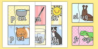 Onset and Rime Jigsaw - jigsaw, match, onset, rime, matching