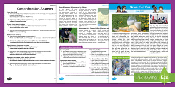 May 2017 News For You - News For You, Children's Newspaper, Global News, US News, Domestic News, Class Newspaper, Classroom