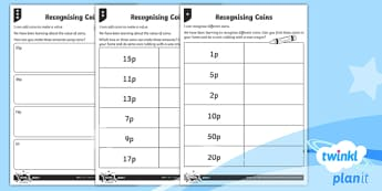Coins and Notes Home Learning Tasks - Measurement, measures, recognise coins and notes, coins, notes, money, denominations, value, home le