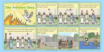 Pentecost Story - Pentecost, Whit, Whitsun, ascension, story, pentecost story