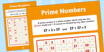 Large Prime Numbers Poster - prime numbers, display, poster