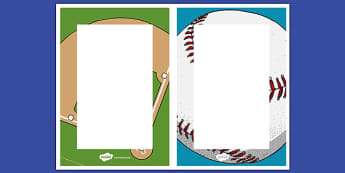 Baseball Themed Editable Notes - usa, baseball, mlb, major league baseball, editable note