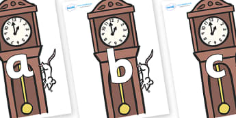 Phoneme Set on Clocks - Phoneme set, phonemes, phoneme, Letters and Sounds, DfES, display, Phase 1, Phase 2, Phase 3, Phase 5, Foundation, Literacy