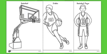 Basketball Coloring Pages - usa, nba, basketball, national basketball association, coloring pages, color, coloring