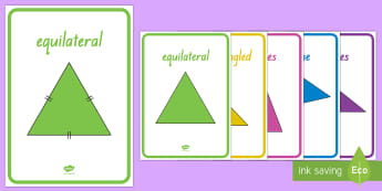 Types of Triangle Display Posters - New Zealand, maths, triangles, geometry, display posters, shapes, Years 1-3, age 5, age 6, age 7