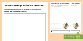 Past, Present and Future Green Lake Activity Sheet to Support Teaching on Holes  - New Zealand Chapter Chat, Chapter Chat NZ, Chapter Chat, Holes, Years 5-6, Camp Green Lake, Green La