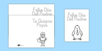 Tarjetas para colorear El día del padre - el día del padre, tarjeta, colorear