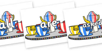 Tricky Words on Fairground Teacups - Tricky words, DfES Letters and Sounds, Letters and sounds, display, words