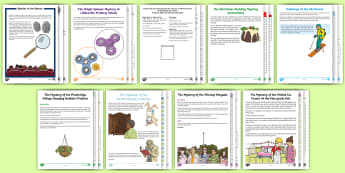 LKS2 Mystery Maths Games Resource Pack - mysteries, maths, english, games, end of year,