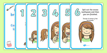 How to Brush Your Teeth Posters Spanish Translation - spanish, Dentists/Dental Surgery Role Play Pack,teeth, brushing teeth, dentist, dental nurse, checkup, teeth, dental care, dental health, filling, extraction, health, role play, display, poster