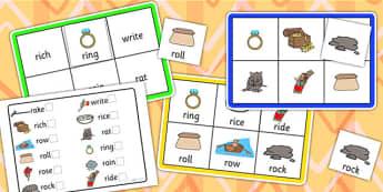Initial r Sound Bingo and Lotto Game - sound, bingo, lotto, game