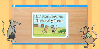 The Town Mouse and the Country Mouse eBook - books, reading