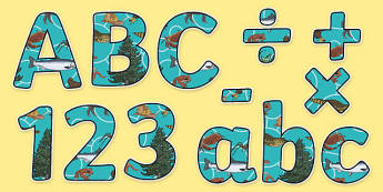 Living Things and their Habitats Themed Display Letters and Numbers Pack - Science lettering, Science display, Science display lettering, living things and their habitats, display lettering, display, letter