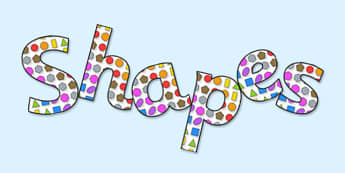 'Shapes' Display Lettering - shapes, maths shapes, shapes lettering, shapes letters, shapes cut out letters, shapes display, shapes display title, maths