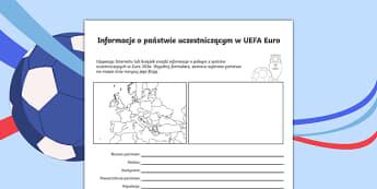 Karta Informacje o państwie uczestniczącym Euro 2016 po polsku