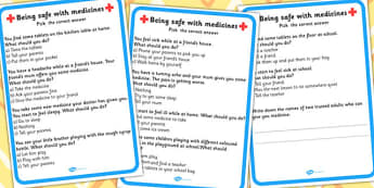 Being Safe With Medicines What Should You Do Choice Activity