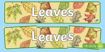 Leaves Display Banner - Banners, Displays, Visual, Visuals, Leaf