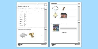 Compound Words Test - GPS, spelling, grammar, compound words, test