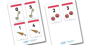 Number Bonds to 5 Matching Cards (Everyday Items) - Number Bonds, Matching Cards, Number Bonds to 5