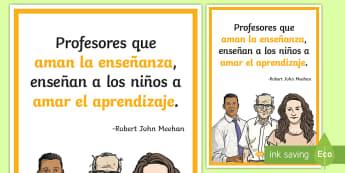 Póster DIN A2: Profesores que aman la enseñanza - póster, poster, pósters, DIN A2, exponer, exposición, decorar, decoración, mural, murales, profe
