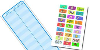 Large Interactive Class Register - Register, class register, self registration, editable, labels, registration, child name label, printable