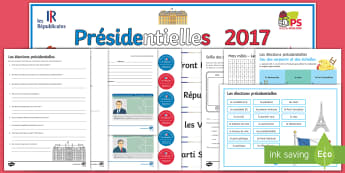 French Elections Activity Pack - KS3 French Presidential Elections, word search, fact file, badges, banner, identity card, games, fre