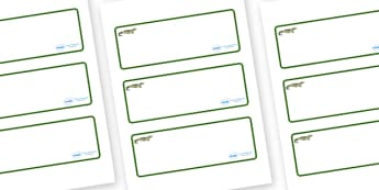 Crocodile Themed Editable Drawer-Peg-Name Labels (Blank) - Themed Classroom Label Templates, Resource Labels, Name Labels, Editable Labels, Drawer Labels, Coat Peg Labels, Peg Label, KS1 Labels, Foundation Labels, Foundation Stage Labels, Teaching La