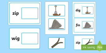 Workstation Pack:  Picture to CVC (i) Word Matching Activity Pack