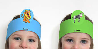 Role Play Headbands to Support Teaching on Rumble in the Jungle - roleplay, props, story