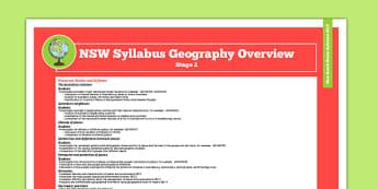 NSW Stage 2 Geography Syllabus Overview - australia, syllabus, nsw