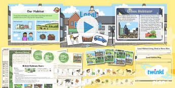 PlanIt - Science Year 2 - Living Things and Their Habitats Lesson 2: Local Habitats - science, ks1, key stage 1, planning, resources, topic, nature, animals, places, homes, display, activities